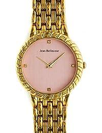 Reloj mujer JEAN Bellecour reloj 34 cm (Steel y rosa correa color dorado en acero reds20-gp