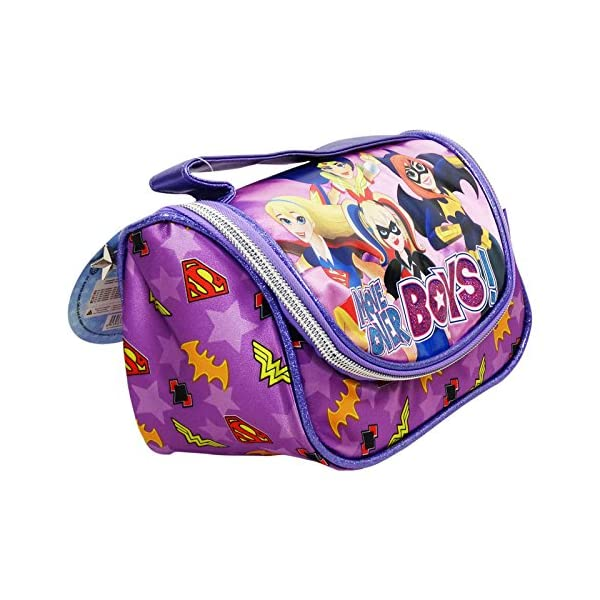 DC Super Hero Girls Make Up Bag Bolsos Neceser Vanity Estuche Ninos