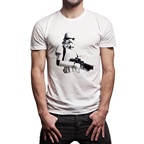 Star Wars Battlefront Jedai Yedi Game Star Wars Battlefront Jedai Yedi Game Lego StormTrooper Background Herren T-Shirt Weiß