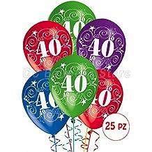Globos de cumpleaños para celebrar 40 años, . Decoraciones para fiestas, paquete . Confección de 25 piezas.