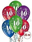 Palloncini Compleanno 40 Anni addobbi e decorazioni per feste party confezione 25pz