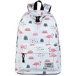 Joymoze Moderna Mochila de Ocio Para Niñas Mochila Escolar Para Adolescentes Mochila Bolso Estampado para Mujer Flamingos