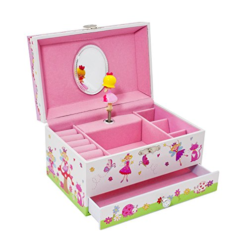 Joyero musical encantado de hadas de Lucy Locket para niños - Caja de música brillante para niños con soporte para anillos