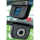willsbury Solar Powered Car Window Cool Air Vent Auto Fan - Black