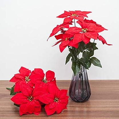 Vosarea Simulación Artificial Flor de Pascua Flor Floral Rojo Árbol de Navidad Decoraciones Navidad Año Decoración de la Puerta del Hogar