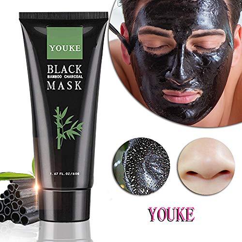 Blackhead Remover Maske mit Pinsel, Kohle Reinigung Mitesser Akne-Entferner Peel-Off-Gesichts Tiefenreinigung Black Mask