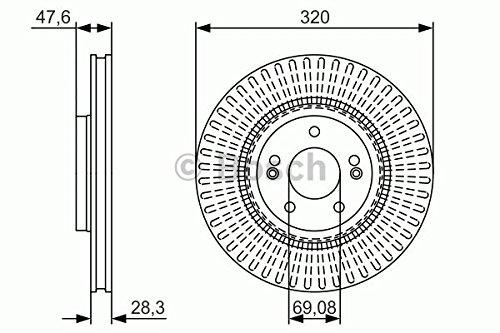 Bosch BD1708 Disque de frein
