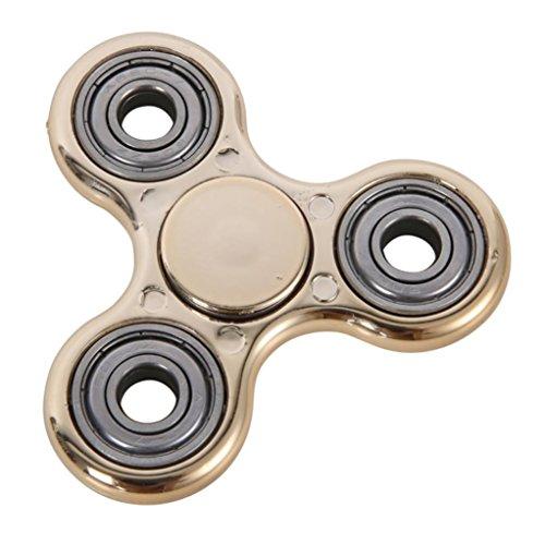 Gyroscope Tri Spinner Multicolor, FeiXIANG Divertente Tri-Hand Spinner Fidget Toys oro