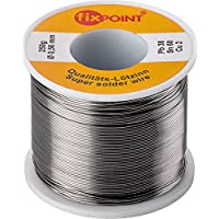 Fixpoint WT-51063 Rotolo Stagno per Saldatura, 250 gr, Argento, Diametro 0,56 mm