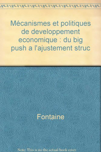 Mécanismes et politiques de développement économique : du big push à l'ajustement structurel