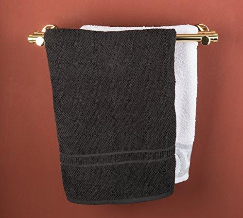 Porta asciugamano doppio Ø 20 mm, L. 60 cm. in ottone lucido – completo