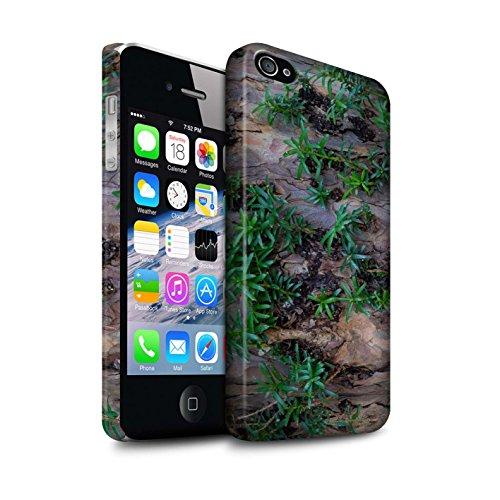 STUFF4 Matte Snap-On Hülle / Case für Apple iPhone 6S+/Plus / texturierte/braun Muster / Baumrinde Kollektion Werk/Blätter