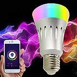 VJUKUB E27 8W LED Smart WiFi Bombilla Alexa Dot luz Regulable casa Bombilla