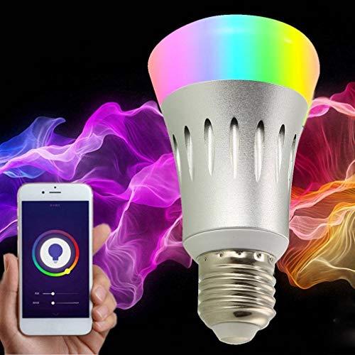 VJUKUB E27 8W LED Smart WiFi Bombilla Alexa Dot luz