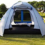 Peaktop 6 Person Camping Tent 2 Rooms 3000mm Waterproof Large Family Hiking Beach