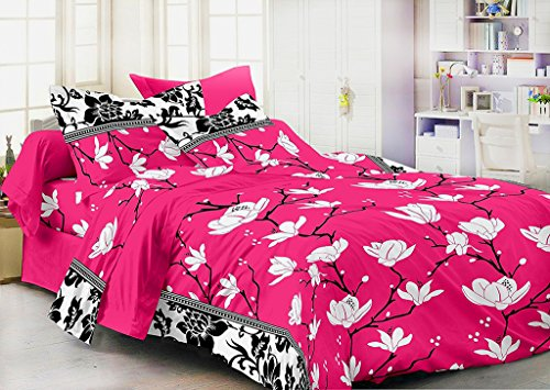 Homefab India 3D 140 TC Polycotton Double Bedsheet with 2 Pillow Covers...