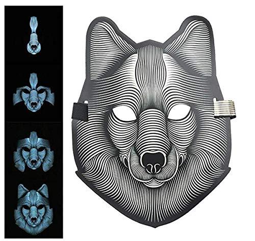 ert blinkende Maske Leuchtend glühende LED Partymaske Bühnenmaske ()