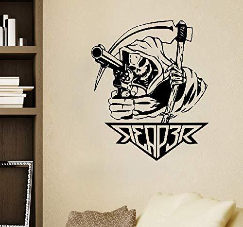 les Design Sensenmann mit Waffe Tod Reaper Aufkleber Home Decor ()