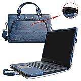 HP Notebook 17 Housse,(2 en 1) spécialement conçu Étui de protection en cuir PU + sac portable Sacoche pour 17.3' HP Notebook 17 17-x000 17-bs000 17-y000 Series Portable Notebook(NON compatible avec ENVY 17 & Pavilion 17),Bleu