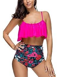 MEMORY BABY Bikini Mujer Push up Impresión Traje de baño Conjuntos Cintura Alta Bañador