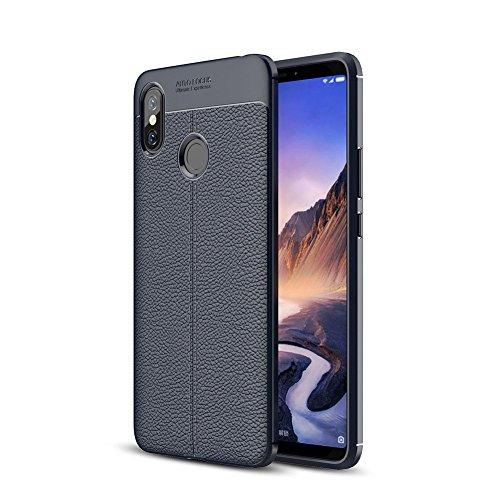 "XMTN Xiaomi Mi MAX 3 6.9"" Funda, Cubierta Delgado Caso de TPU Silicona Funda Protective Case Cover para Xiaomi Mi MAX 3 Smartphone (Azul)"