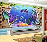 HQHZZQ Photo de papier peint de chambre 3D sur mesure de peinture murale non-tissée Ocean Island Yacht, peinture 3D, papier peint sur un mur pour murs 3D, 250X175 cm (98.4 sur 68.9 po)