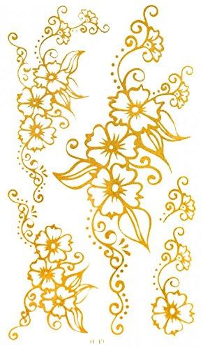 GRASHINE Goldene Tattoo Größe 4.92
