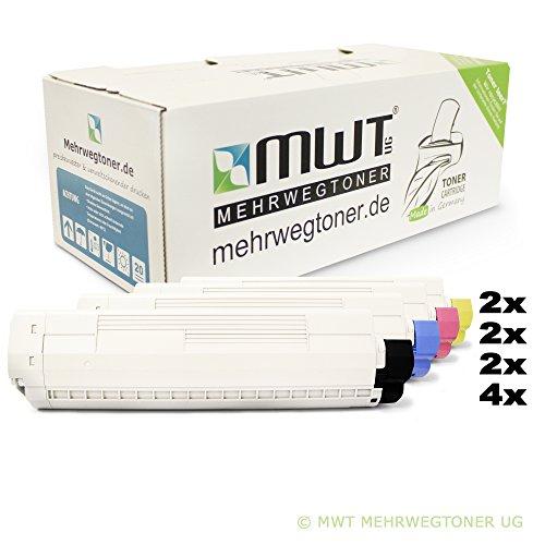 Preisvergleich Produktbild 10x MWT XXL Toner für OKI C 8600 8800 CDTN DN N DTN ersetzt 43487709 - 43487711