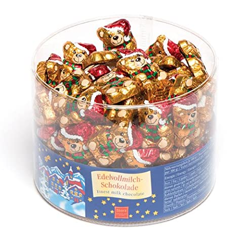 Chocolate Santa Teddy Bears Perfect Christmas Stocking and Winter Party Bag Filler for Kids (Pack of