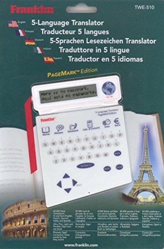 Franklin TWE-510.5-Sprachen-Lesezeichen-Translator: 45 000 Wörter und Sätze. 1 000 Redewendungen. Mit Datenbank für 100 Telefoneinträge, integrierter Taschenrechner u. a