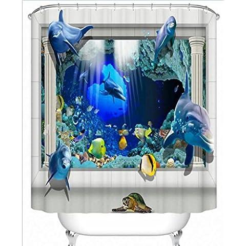 GYMNLJY stampa doccia bagno impermeabile cortina di poliestere 3D Animal Digital tagliato Hanging tenda Bagno Doccia Curtain , 1 ,