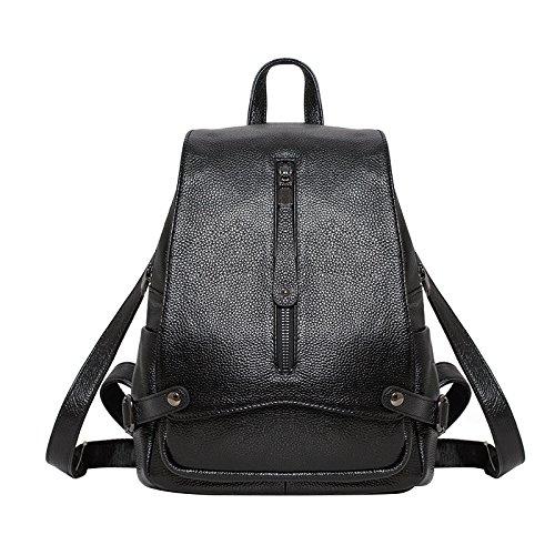 Meoaeo Un Semplice All-Match Zaino In Pelle Zaino Nero black