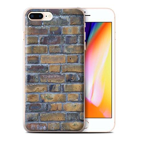 Stuff4 Hülle / Case für Apple iPhone 8 Plus / Feuerstein/Stein Muster / Mauerwerk Kollektion Alt/Gelb