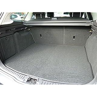 Connected Essentials Individuell gefertigte und Anpassbare Teppich-Kofferraumauskleidung für Citroen C4 Grand Picasso 2007-2014 schwarz mit schwarzem Rand