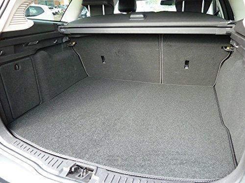 Preisvergleich Produktbild Individuell gefertigte und anpassbare Teppich-Kofferraumauskleidung für Ford Galaxy (MK 3) 2006-2013 von Connected Essentials - schwarz mit schwarzem Rand