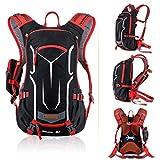 EUDHGK 18L Klettern Rucksack Tasche Sport Reiten Outdoor Taschen Rucksack Hydration Wasser Tasche Beutel Rucksack + Regen Abdeckung Set Red Color Other