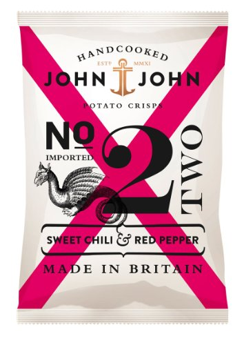 Preisvergleich Produktbild John & John Potato Crisps Sweet Chili & Red Pepper 150g,  6er Pack (6 x 150 g)