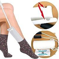 Wrwgl Ayuda para Calcetines-Sock Slider,Calcetín Deslizante Flexible Calcetín Helper Embarazo/Lesiones/Ancianos O Personas con Movilidad
