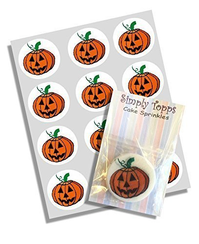 Einfache Kuchen Halloween (12 Pumpkin Halloween reispapier märchen / becher kuchen 40mm cake topper vorschnitt)