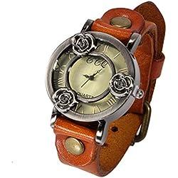 ANNA&JOE Men's Casual Classic Quartz Wrist Leather strap Watches , brown