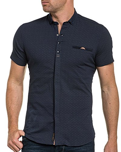 BLZ jeans - Chemisette navy motifs et pression Bleu