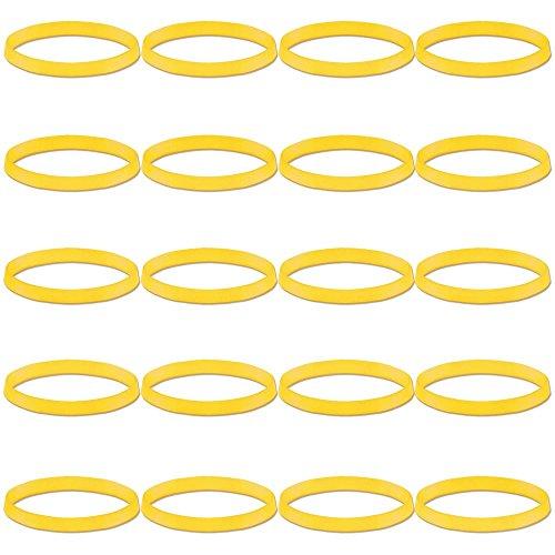 Gummis Rasta Dreads Zopf-Gummi Mähne Transparent Damen Pastellfarben Elastisch Glitzer Klein Kinder, Farbe:transparent gelb (Haarspangen Für Dreads)