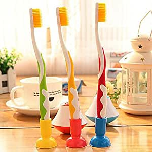 VV- mignon couleurs de bonbons stand titulaire bain couple brosse à dents (couleur aléatoire)