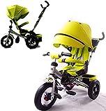 Triciclo para niños Little Tiger, con asiento giratorio y respaldo reclinable 4 en 1