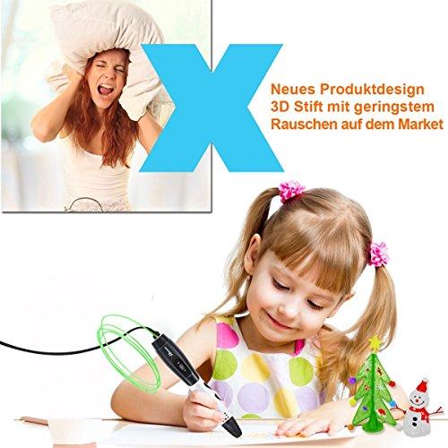 3D Stifte für Kinder mit LCD Display, 3D Druckstift, 3D Stift Set mit 1,75 mm PLA Filament für Kinder, Erwachsene, Kritzelei, Zeichnung und Kunst & handgefertigte Werke - 5