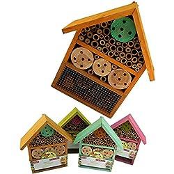 Natural Insectos Hotel 25x 10x 30cm, Naranja, pack de 1