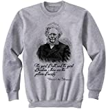Teesquare1st Men's HENRIK IBSEN Grey Sweatshirt