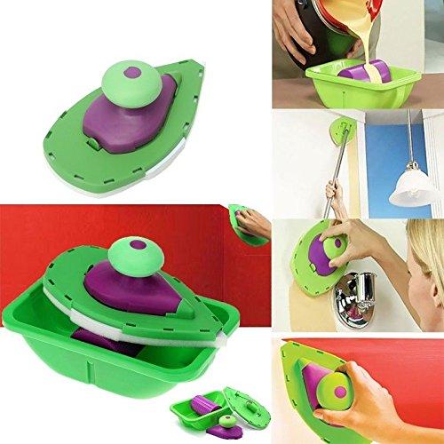 takestop® Fixierer Präzisions-Point mit Tablett Wandfarbe Pinsel Lack Paint Wände Ecken Haus Raum Lack no Tropfen