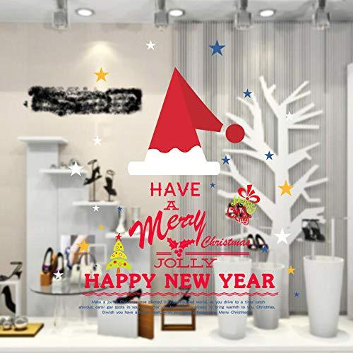 Weihnachtsmütze wandaufkleber schlafzimmer dekoration fenster shop wohnzimmer esszimmer schlafzimmer mode ideen 60x90cm