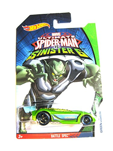 Hot Wheels Marvel Ultimate Spider-Man vs Sinister 6Green Goblin Battle Spec 1: 64